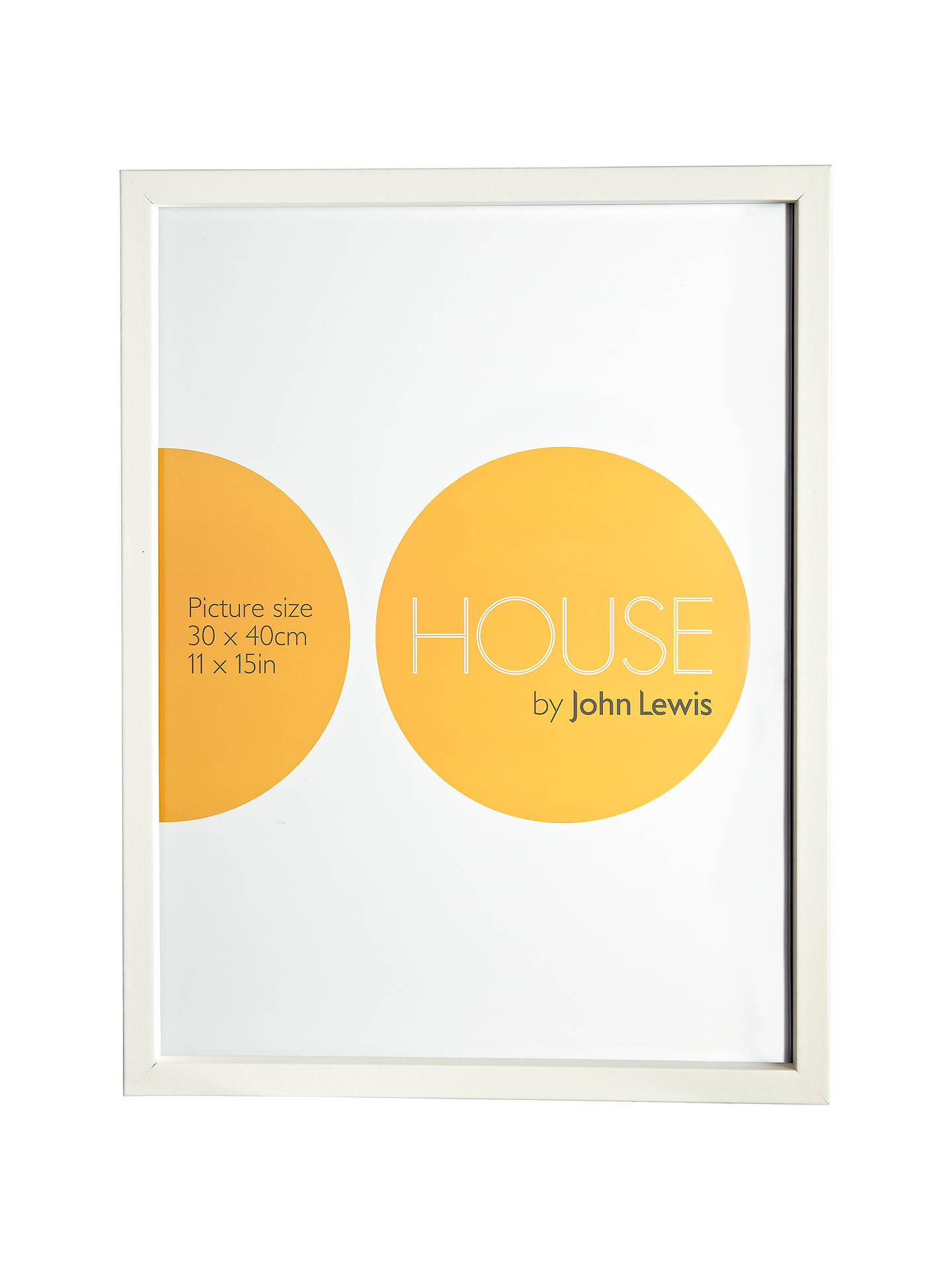 House by John Lewis MDF Wrap Picture Frame, 30 x 40cm at John Lewis ...