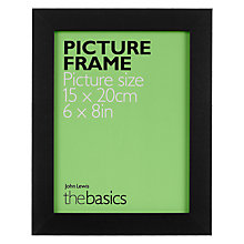 "Buy John Lewis The Basics Picture Frame, 6 x 8"" Online at johnlewis.com"