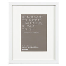 "Buy John Lewis Box Frame & Mount FSC-certified, 5 x 7"" (13 x 18cm) Online at johnlewis.com"
