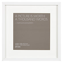 "Buy John Lewis Box Frame & Mount FSC-certified, 8 x 8"" (20 x 20cm) Online at johnlewis.com"