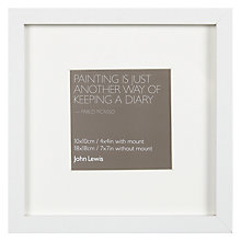 "Buy John Lewis Box Frame & Mount FSC-Certified,  4 x 4"" (10 x 10cm) Online at johnlewis.com"
