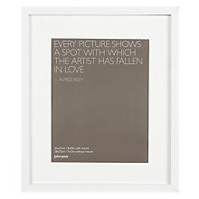 "Buy John Lewis Box Frame & Mount FSC-certified, 8 x 10"" (20 x 25cm) Online at johnlewis.com"