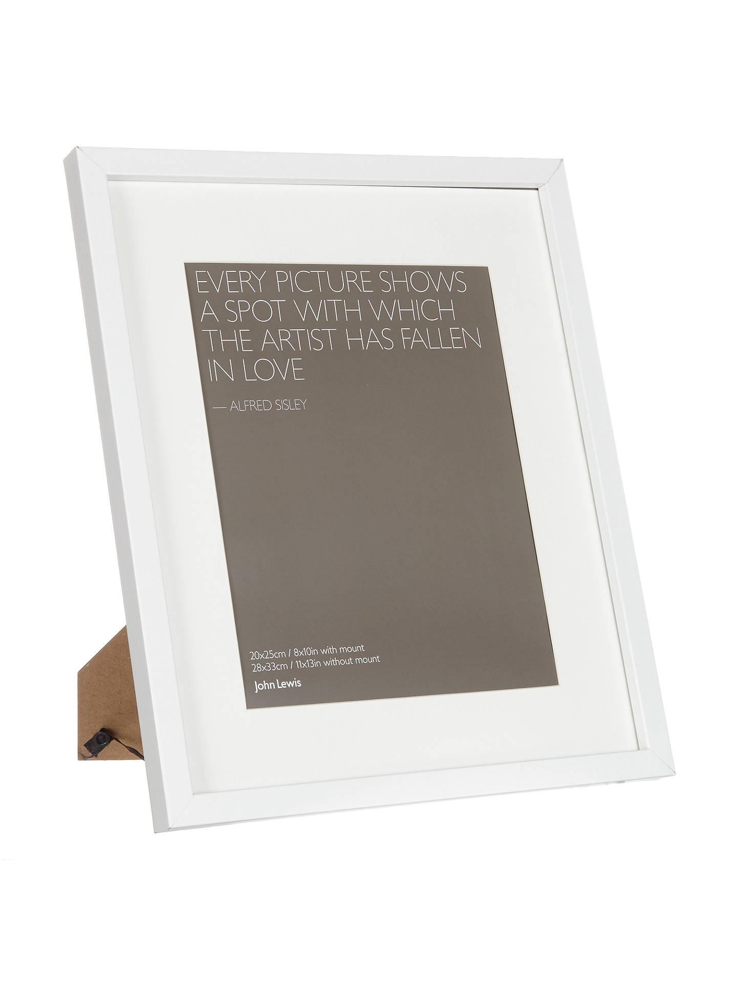 John Lewis & Partners Box Photo Frame & Mount, 8 x 10\