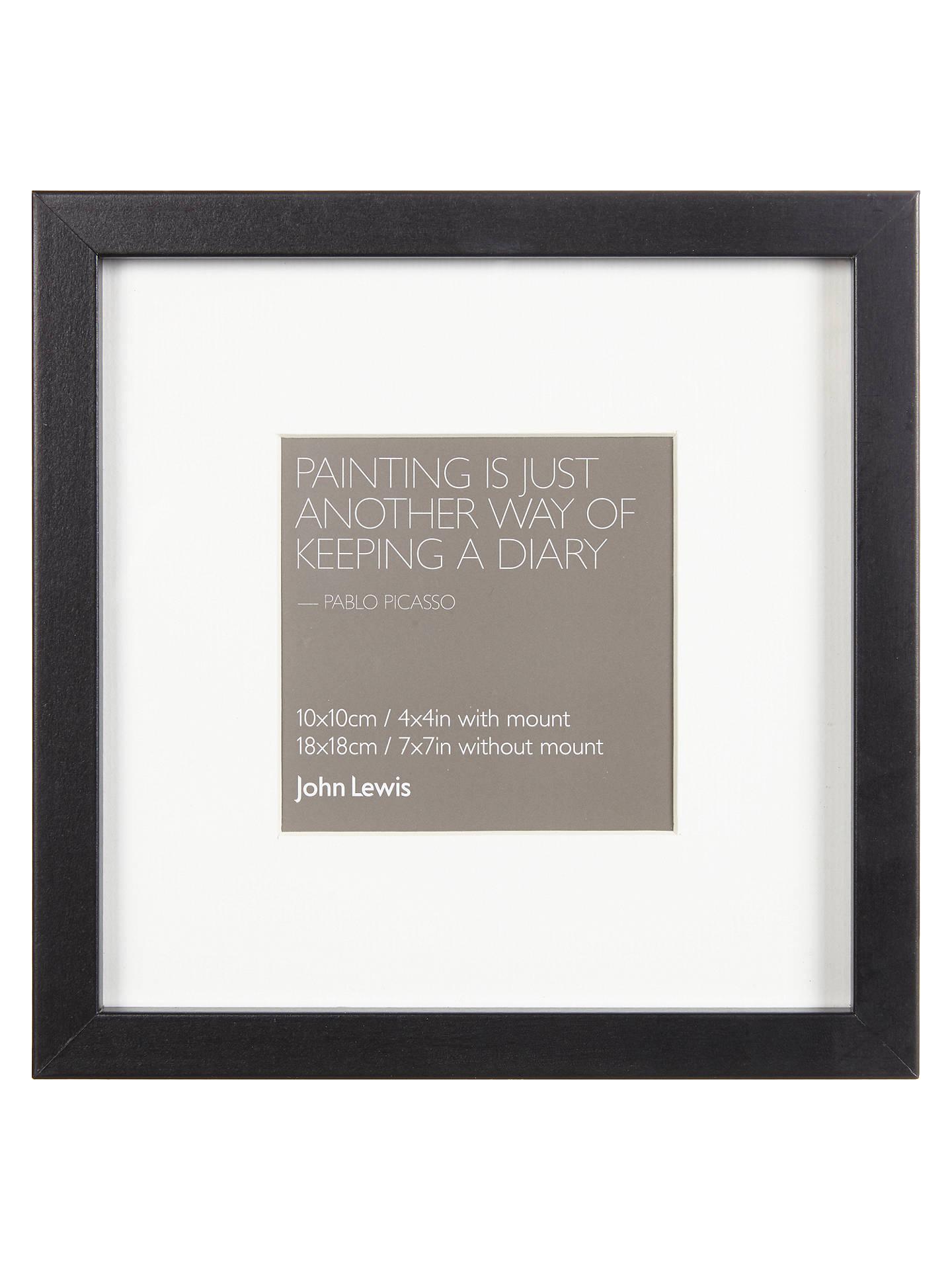 John Lewis & Partners Box Photo Frame & Mount, 4 x 4\