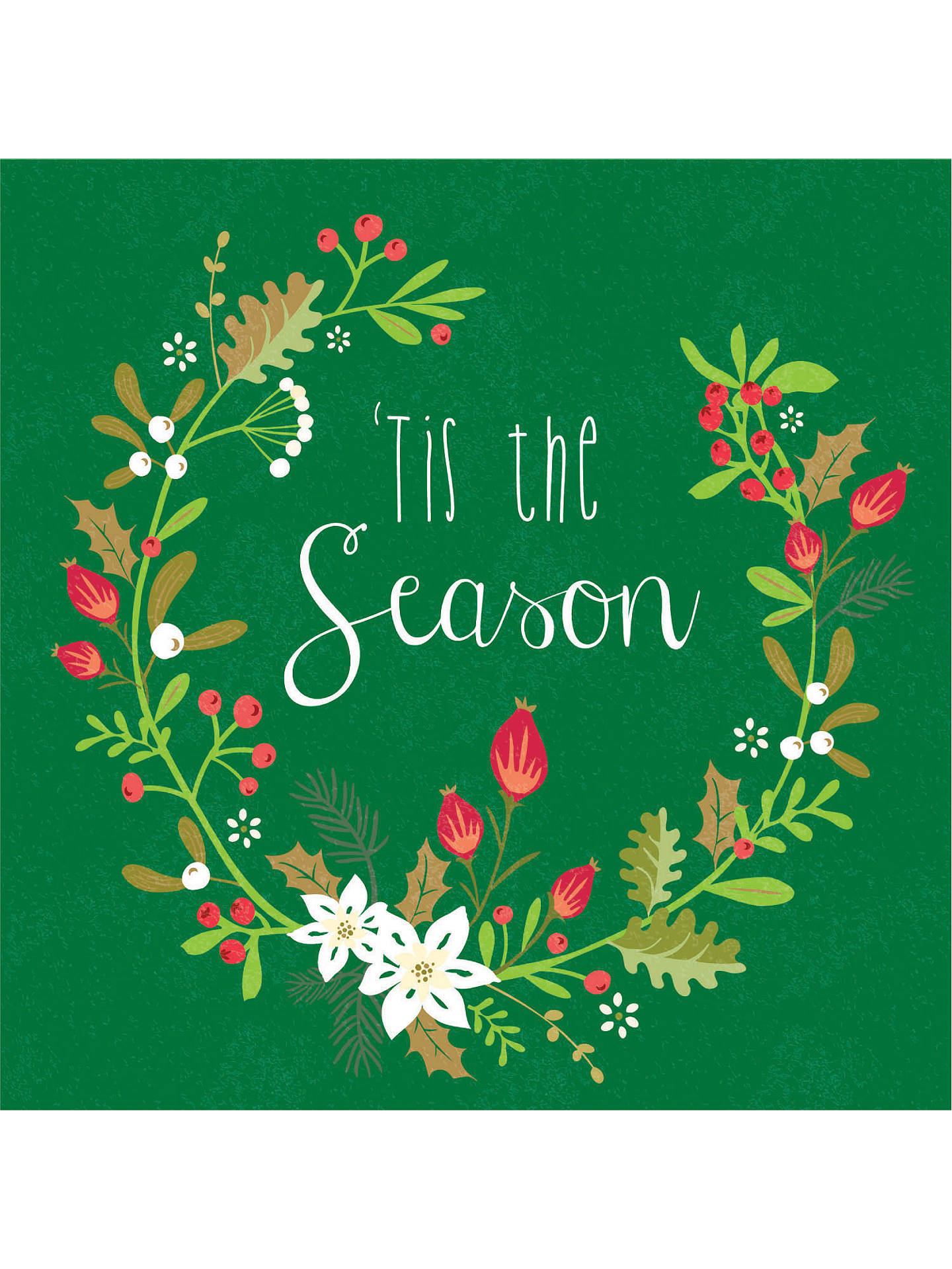 Special Holiday Edition Tis Season For >> Special Editions Tis The Season Wreath Cards Pack Of 10 At John