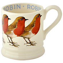 Buy Emma Bridgewater Robin Half Pint Mug, 310ml Online at johnlewis.com