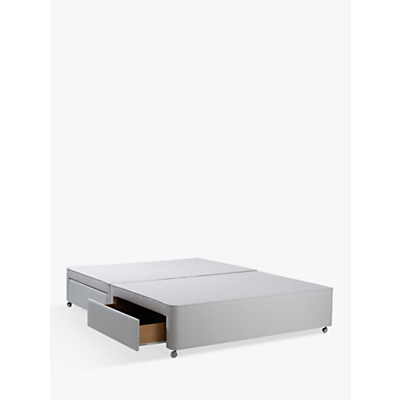 John Lewis Non-Sprung Ortho Divan Storage Bed, Stone Grey, Small Double