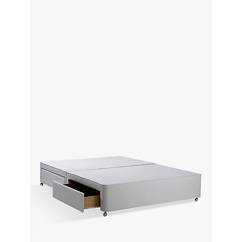 Buy john lewis non sprung ortho divan storage bed stone for Grey double divan bed