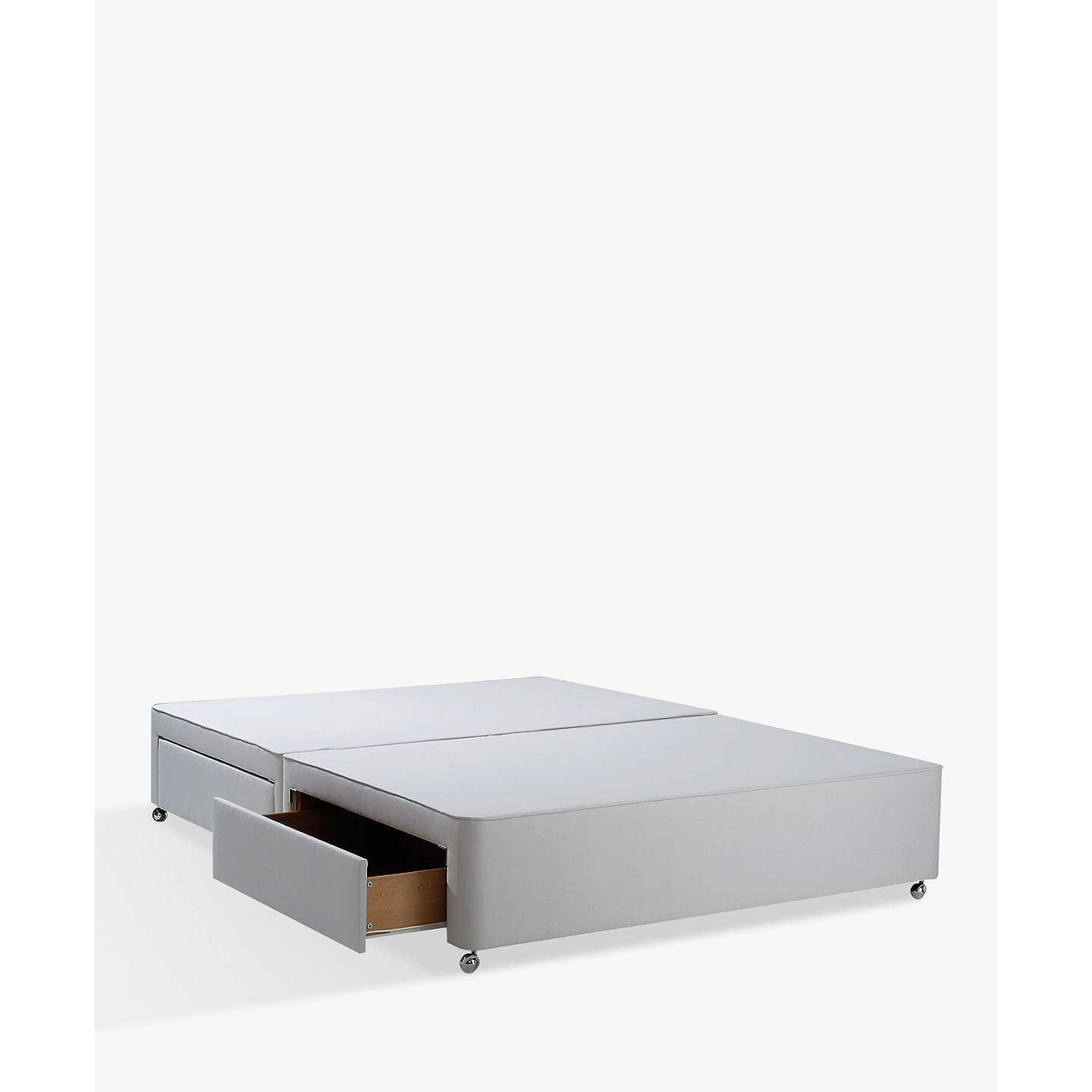 BuyJohn Lewis Non-Sprung Ortho Divan Storage Bed, Grey, King Size Online at johnlewis.com