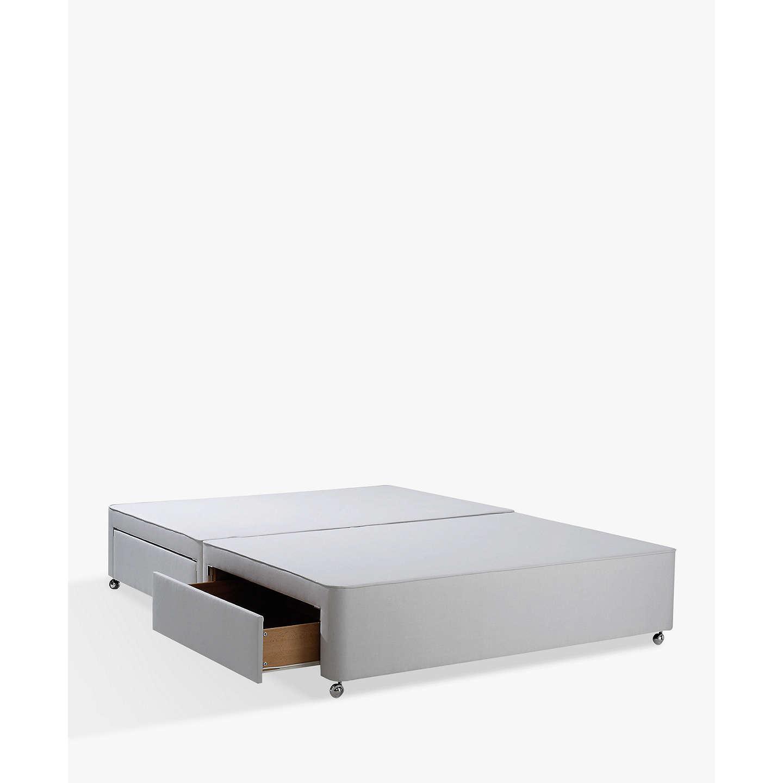 John lewis non sprung ortho divan storage bed grey king for Grey king size divan