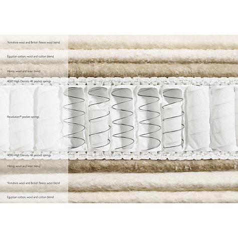 Buy John Lewis Natural Collection Yorkshire Wool 8000 Pocket Spring Mattress, Medium, King Size Online at johnlewis.com