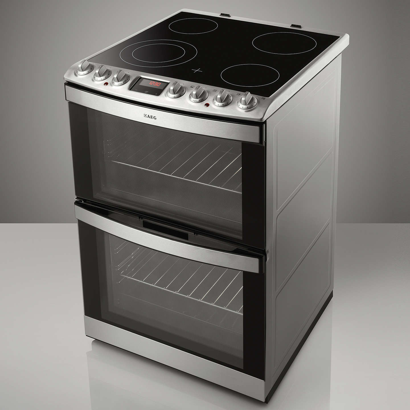 aeg 43172v mn freestanding electric cooker stainless. Black Bedroom Furniture Sets. Home Design Ideas