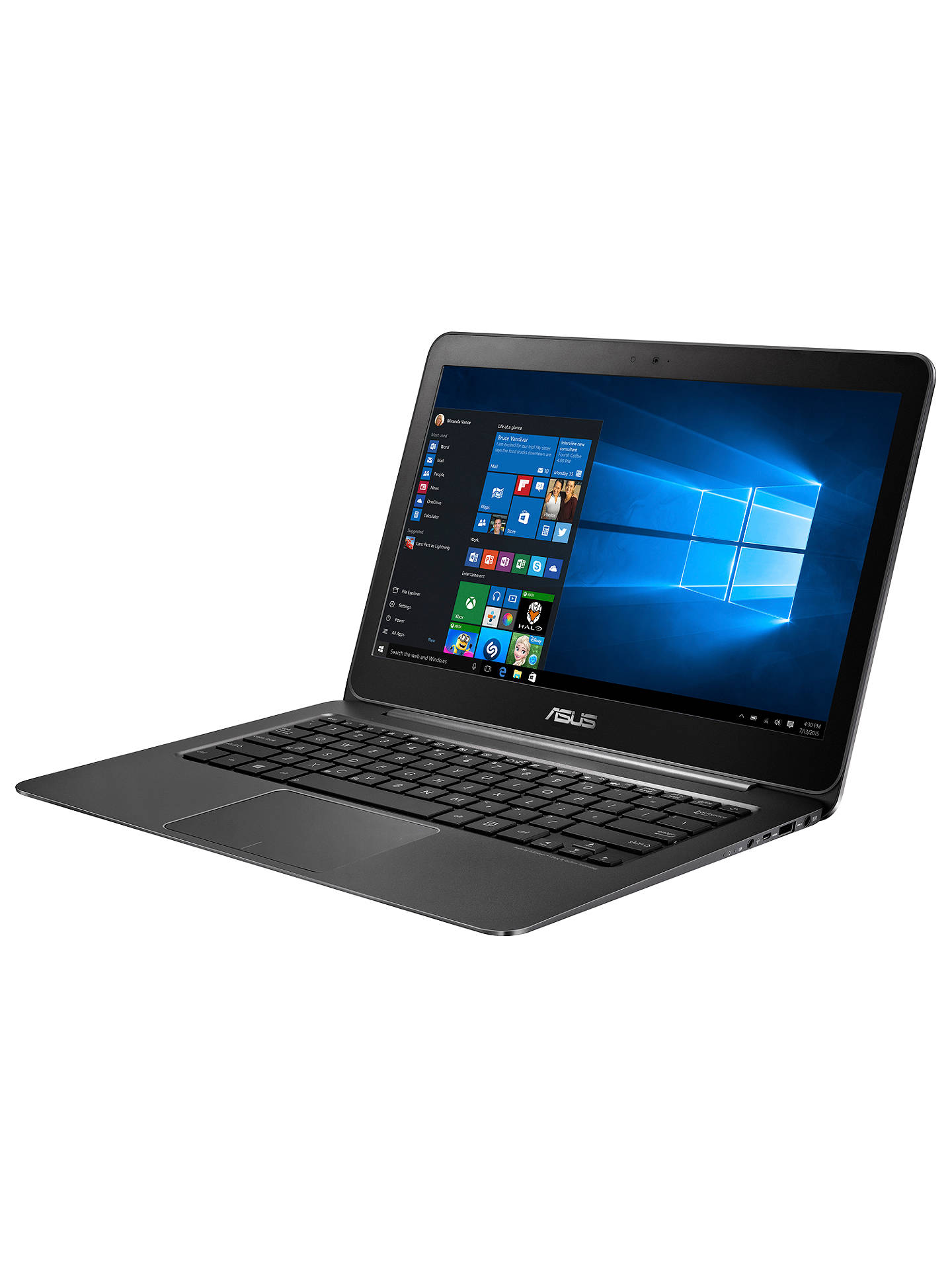 "Buy ASUS ZenBook UX305 Ultrabook, Intel Core M, 8GB RAM, 128GB SSD, 13.3"", Black Online at johnlewis.com"