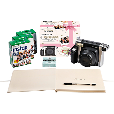 Product photo of Fujifilm instax 300 wedding pack with instant camera 60 shots photo mounts wedding guest book pen