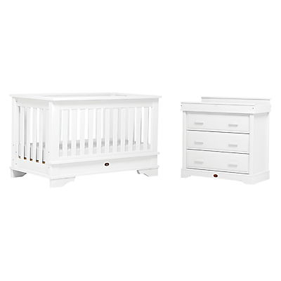 Boori Eton Convertible Plus Cotbed and 3-Drawer Dresser Set, White