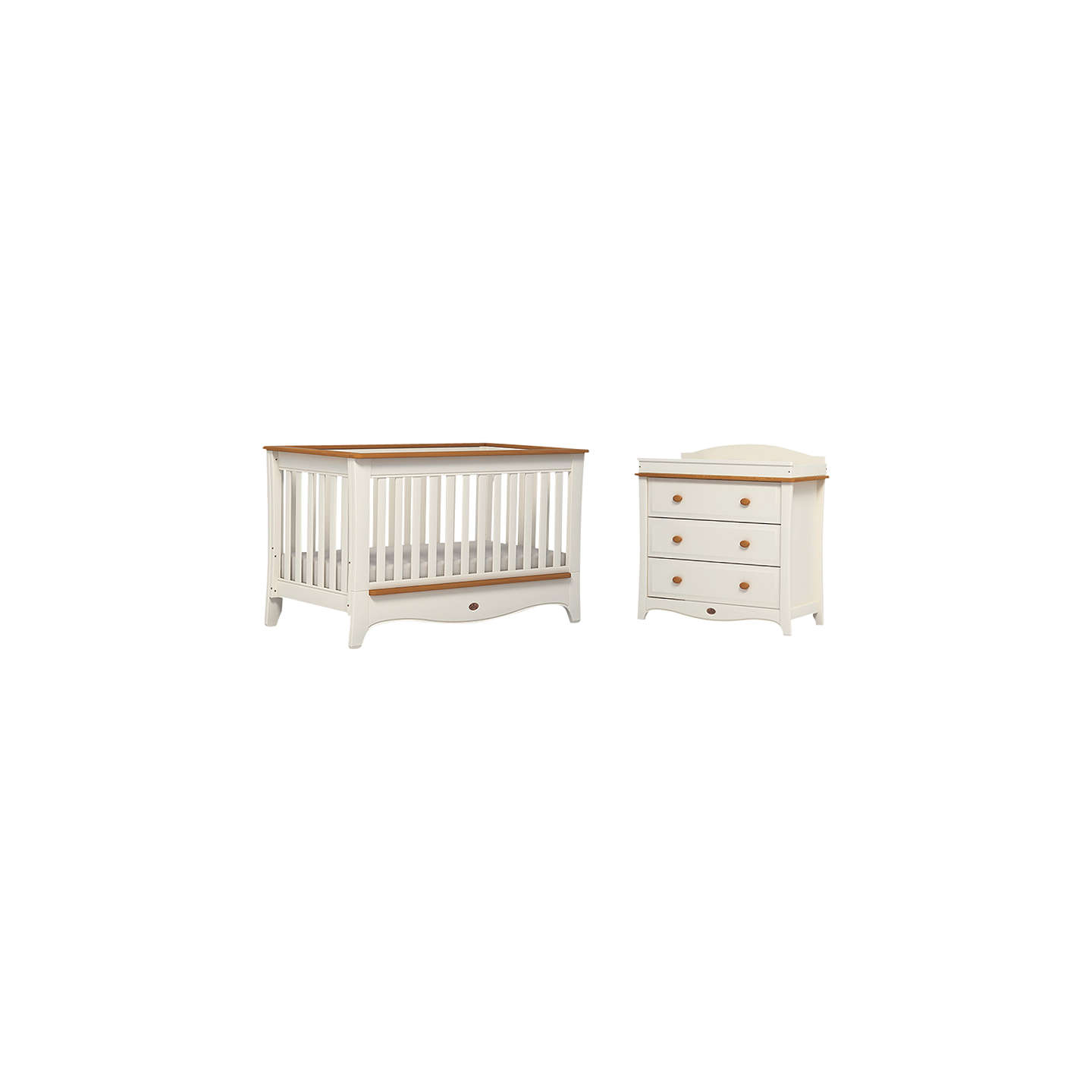 BuyBoori Provence Convertible Plus Cotbed And 3 Drawer Dresser, Honey/Ivory  Online At ...