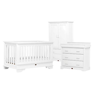 Boori Eton Convertible Plus Cotbed, 3-Drawer Dresser and Wardrobe Set, White