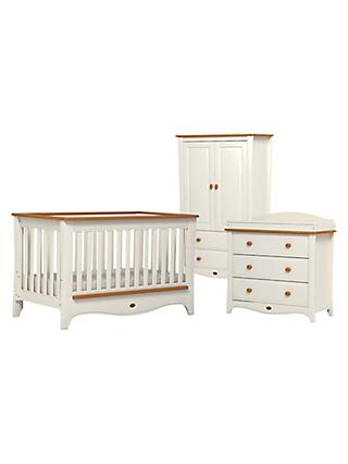 Boori Provence Convertible Plus Cotbed, 3-Drawer Dresser and Wardrobe, Honey/Ivory