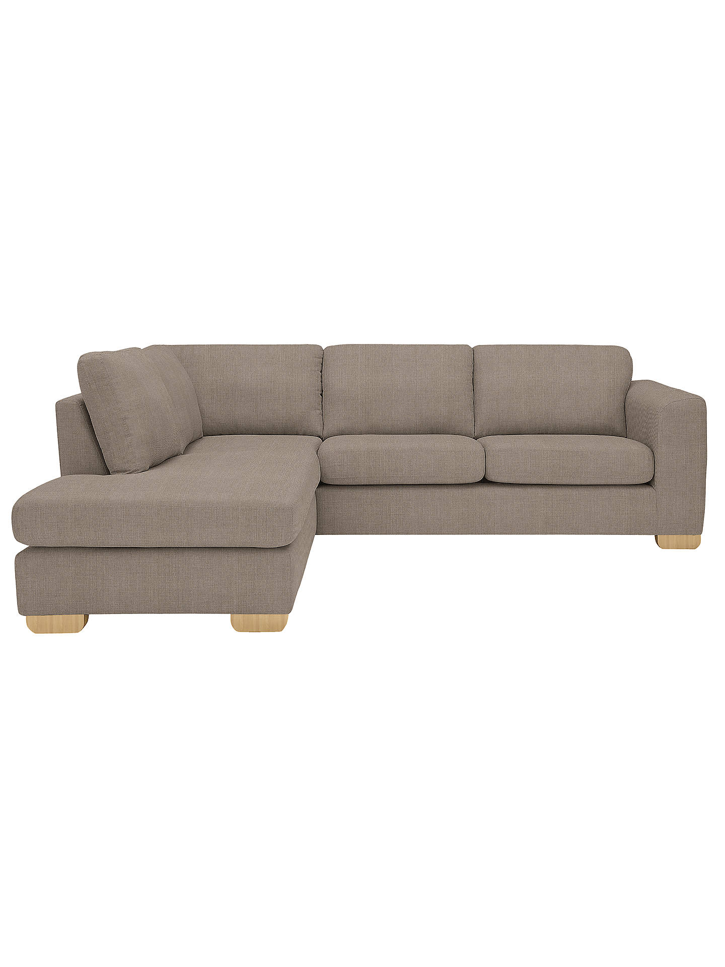 John Lewis Felix LHF Corner Chaise End Sofa, Bala Charcoal