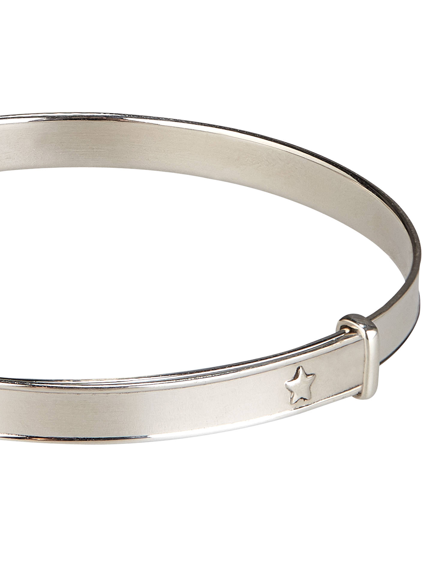 Buy John Lewis & Partners Sterling Silver Expanding Lucky Star Bangle Online at johnlewis.com
