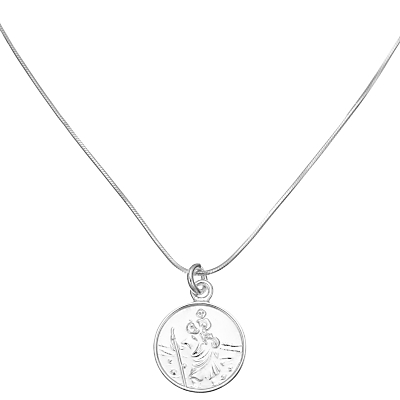 JOHN LEWIS   John Lewis & Partners Sterling Silver St. Christopher Necklace   Goxip