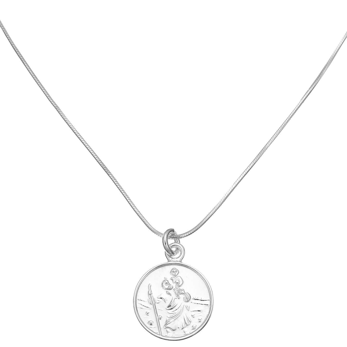 John lewis sterling silver st christopher necklace at john lewis buyjohn lewis sterling silver st christopher necklace online at johnlewis aloadofball Images