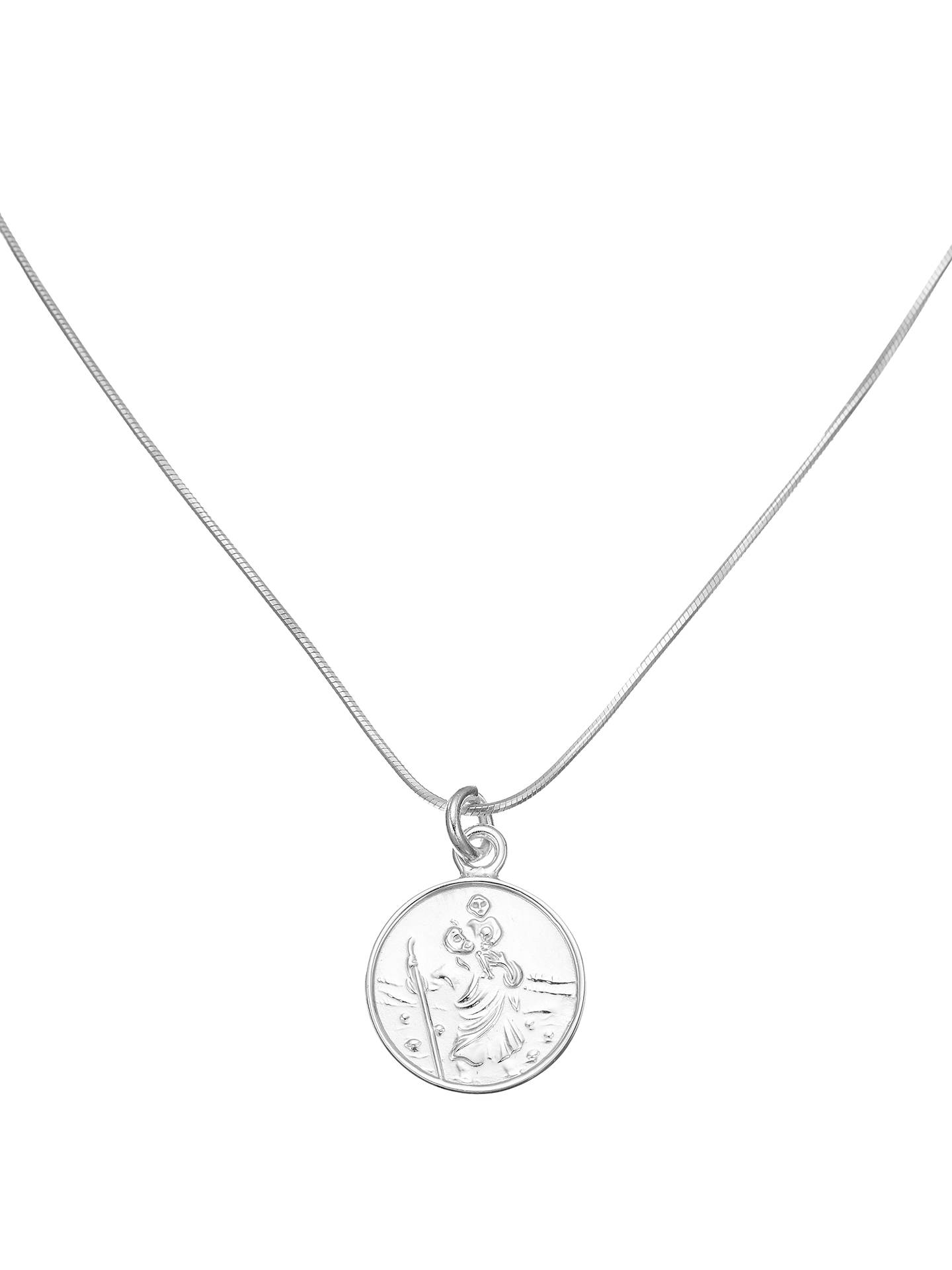 BuyJohn Lewis & Partners Sterling Silver St. Christopher Necklace Online at johnlewis.com