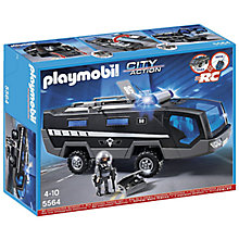 Buy Playmobil City Action Tactical Unit Vehicle Online at johnlewis.com