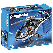 Buy Playmobil City Action Tactical Helicopter Online at johnlewis.com