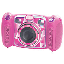Buy John Lewis Exclusive VTech Kidizoom Duo Digital Camera With 4GB SD Card, Pink Online at johnlewis.com