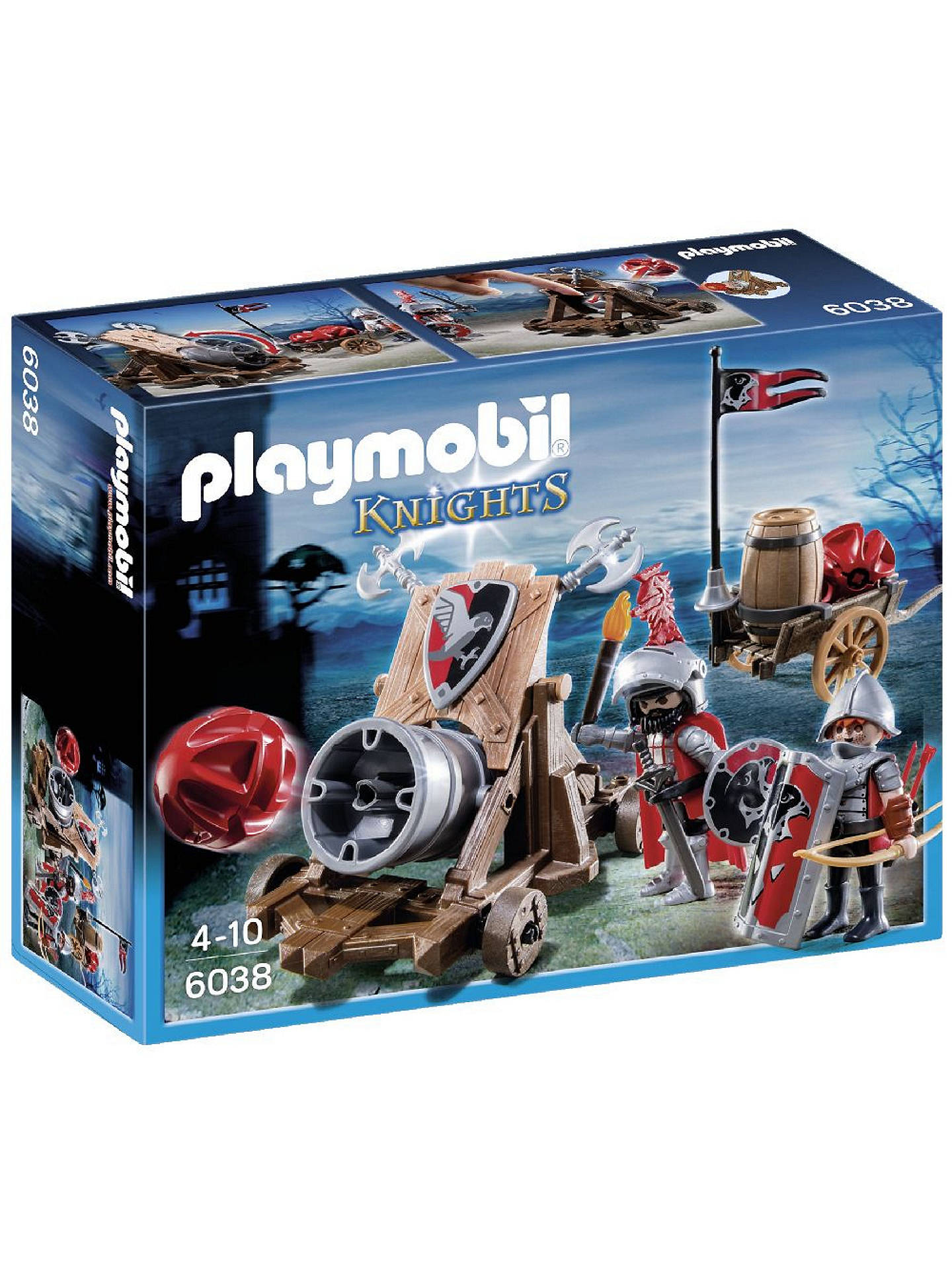 BuyPlaymobil Knights Hawk Knights` Battle Cannon Online at johnlewis.com