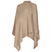 Buy Séraphine Cable Knit Nursing Maternity Shawl, Camel Online at johnlewis.com