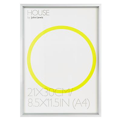 House by John Lewis Photo Frame, A4 (30 x 21cm)