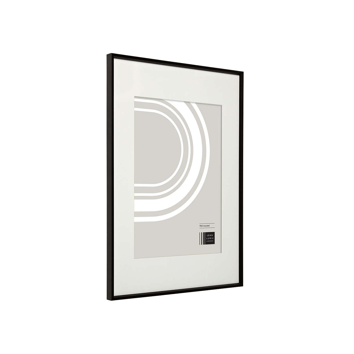 BuyHouse by John Lewis Aluminium Photo Frame, A2 with A3 Mount, Matt Black Online at johnlewis.com