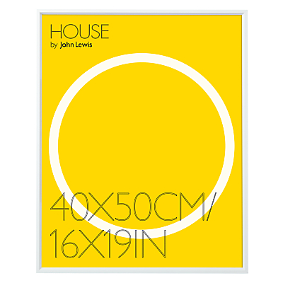 House by John Lewis Aluminium Photo Frame, 50 x 40cm