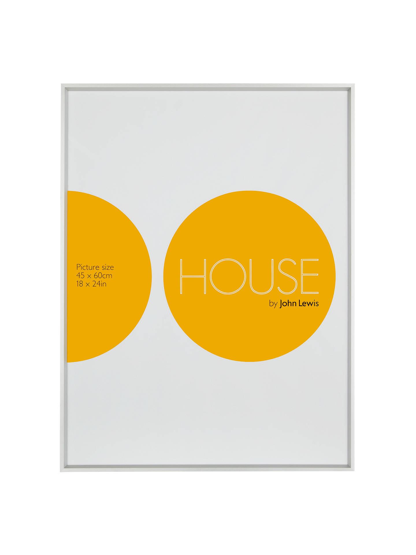 House By John Lewis Aluminium Photo Frame 18 X 24 45 X 60cm