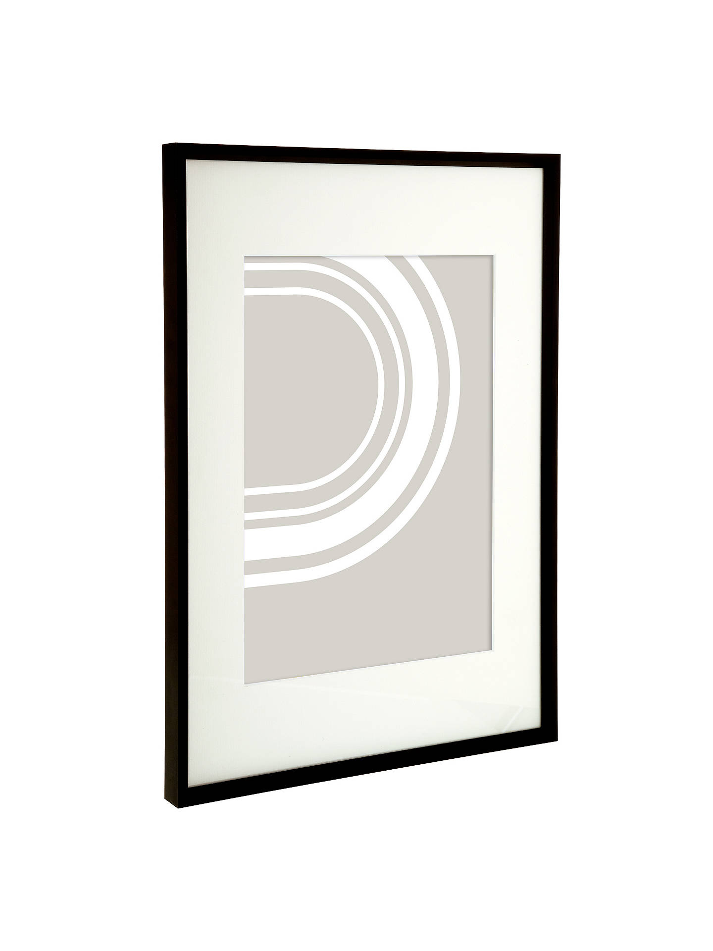 Buy House by John Lewis Aluminium Photo Frame, A3 with A4 Mount, Matt Black Online at johnlewis.com