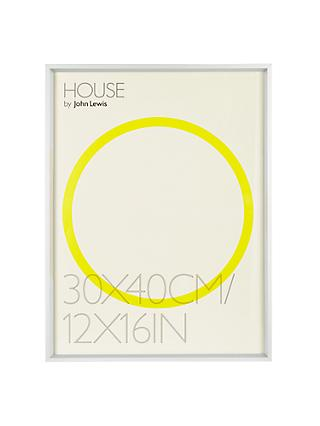 "House by John Lewis Aluminium Photo Frame, 12 x 16"" (30 x 40cm)"