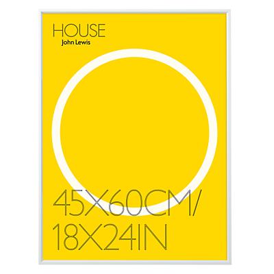 House by John Lewis Aluminium Photo Frame, 18 x 24 (45 x 60cm)