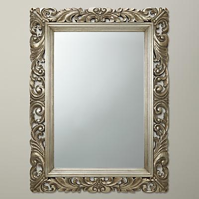 John Lewis Ornate Leaf Wall Mirror, Champagne, 122 x 91cm