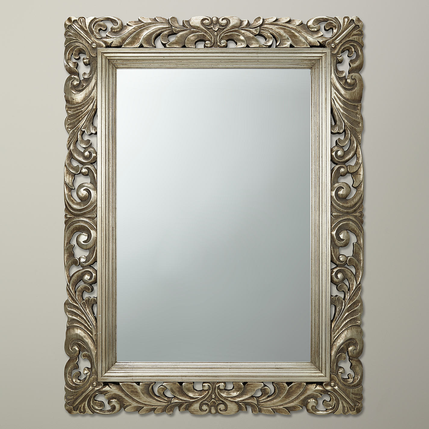 Full length wavy wall mirror candle holder mirror wall for Full size wall mirror
