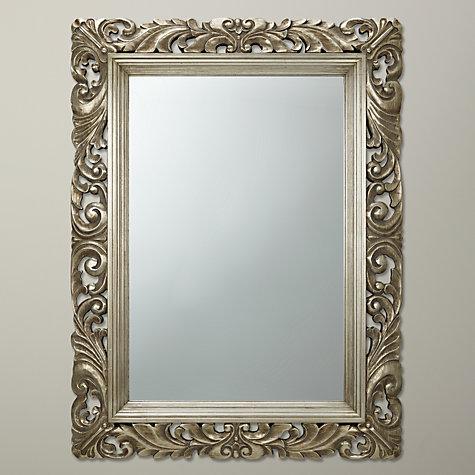 buy john lewis ornate leaf wall mirror champagne 122 x 91cm online at johnlewis
