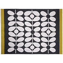 Buy Orla Kiely 60s Scribble Stem Throw, Black Online at johnlewis.com