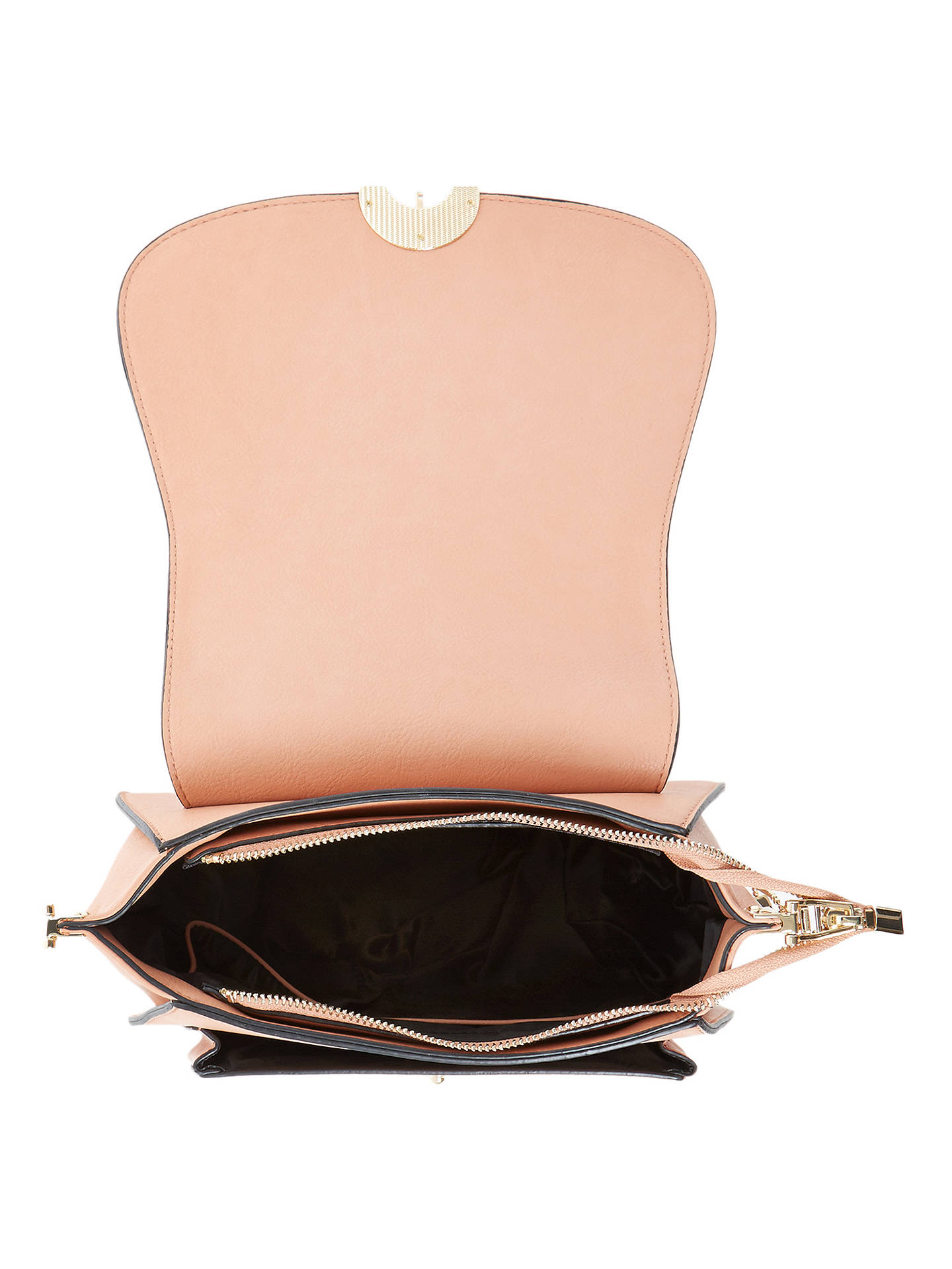 Buy Dune Delphine Croc Saddle Grab Bag, Nude Online at johnlewis.com
