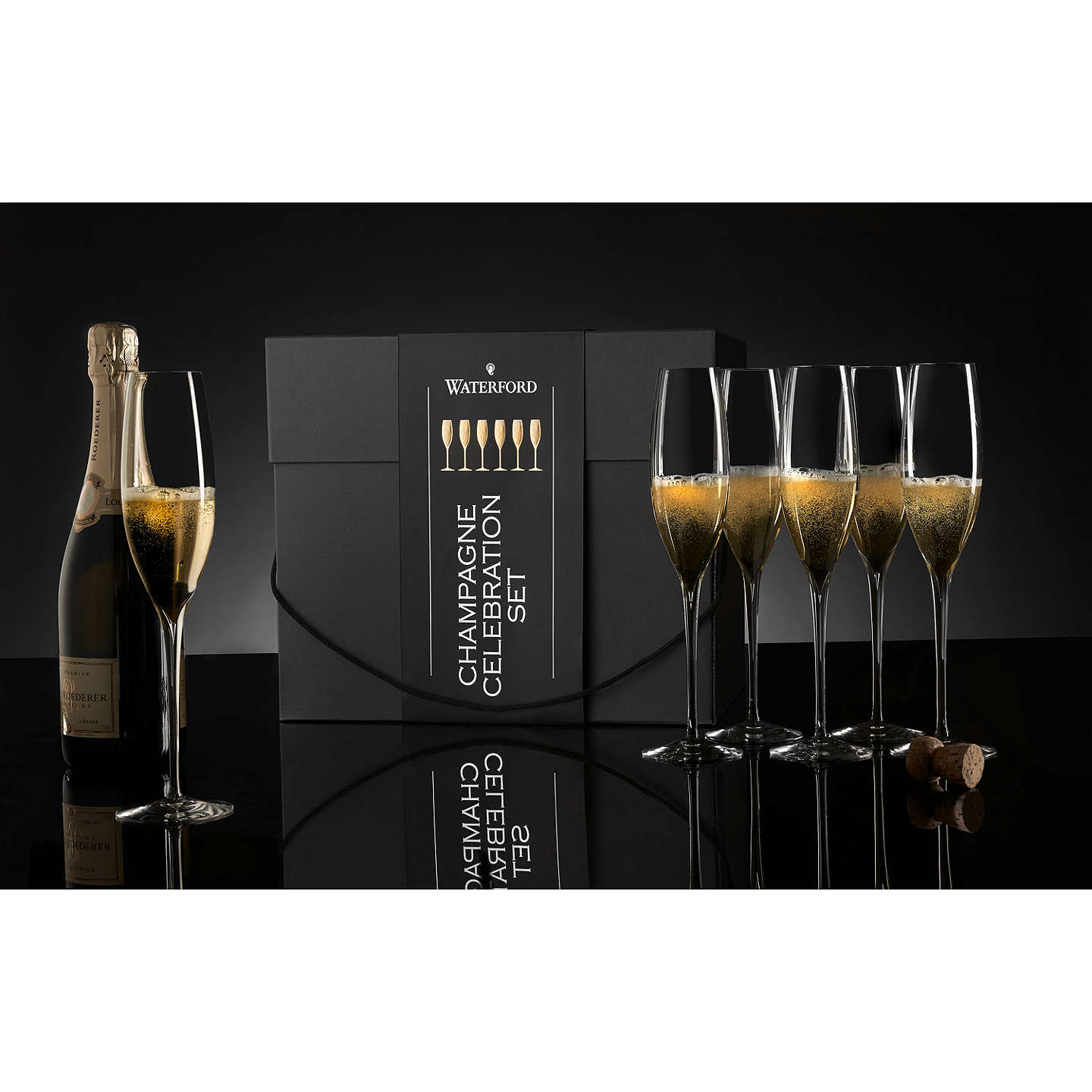 BuyWaterford Elegance Champagne Toasting Flutes, Set of 6 Online at johnlewis.com