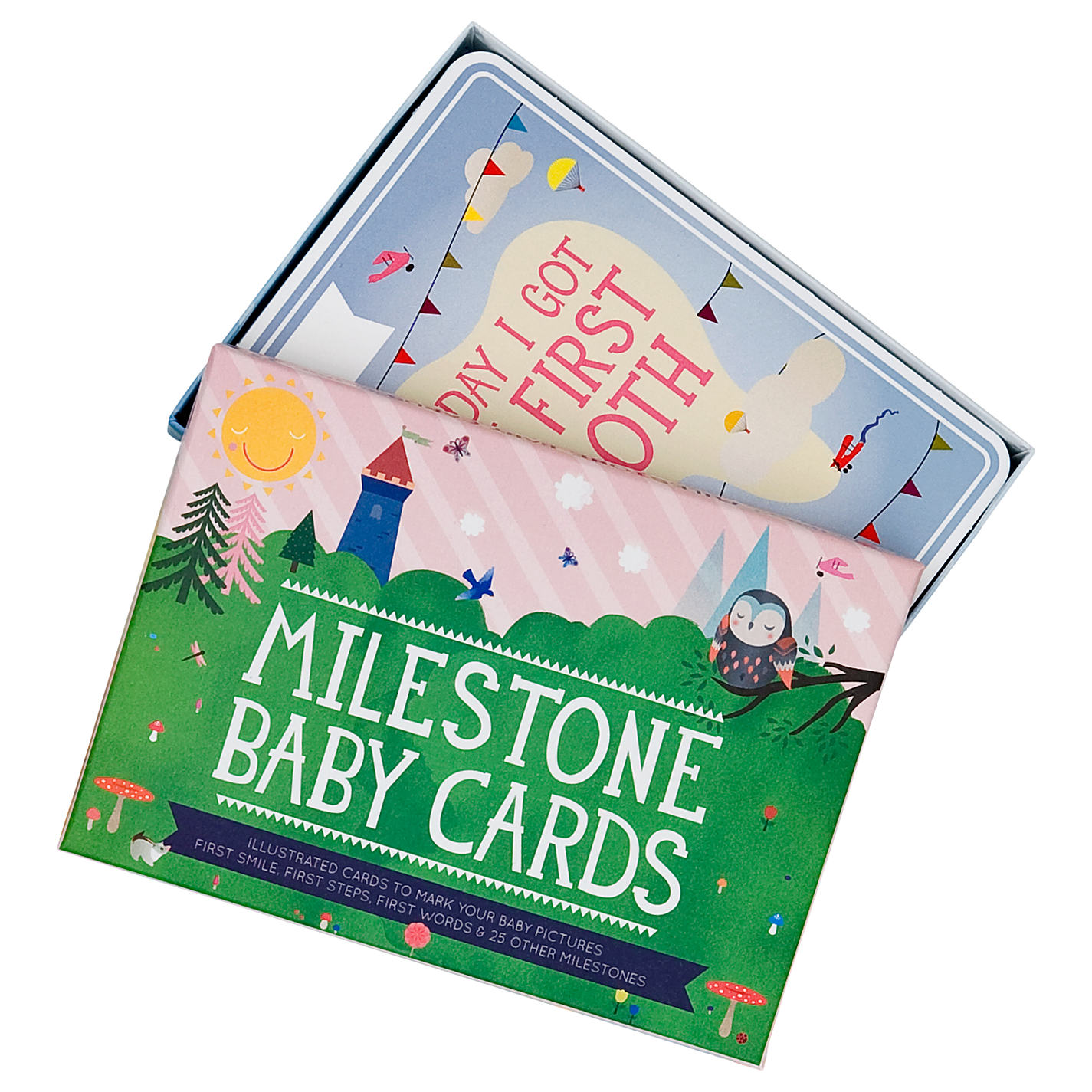 Milestone gifts for new parents john lewis buy milestone baby cards set pack of 30 online at johnlewis negle Image collections