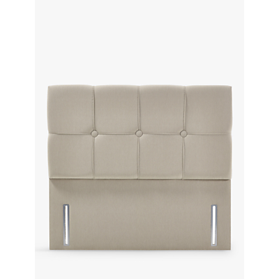 John Lewis & Partners Natural Collection Tatton Full Depth Headboard, Canvas Pebble, King Size