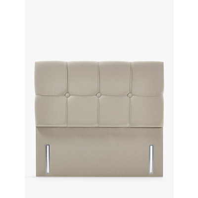 John Lewis & Partners Natural Collection Tatton Full Depth Headboard, Canvas Pebble, Double