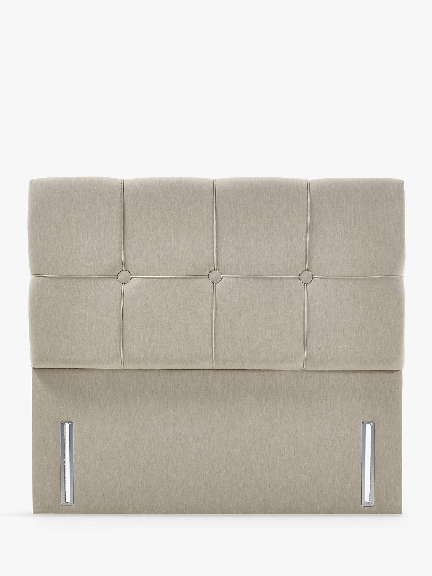 Buy John Lewis & Partners Natural Collection Tatton Full Depth Headboard, Canvas Pebble, Double Online at johnlewis.com