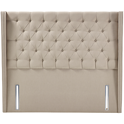 John Lewis Natural Collection Harlow Full Depth Headboard, Canvas Pebble, Super King Size